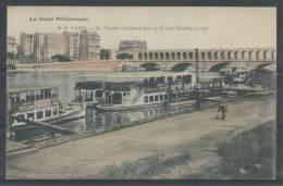 75 - PARIS - Viaduc D'Auteuil Pris De La Rive Gauche (Aval) - La Seine Pittoresque HF 26 - La Seine Et Ses Bords