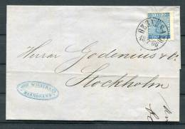 1866 Sweden 12 Ore Coat Of Arms Entire - Hernosand
