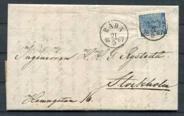 1867 Sweden 12 Ore Coat Of Arms Entire - Rada