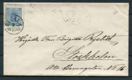 1865 Sweden 12 Ore Coat Of Arms Cover - Upsala - Misperf !