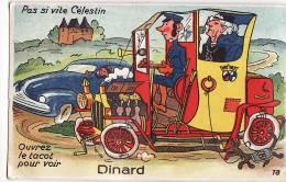 DINARD(35) / SYSTEME / Carte Dépliant 10 Vues / Pas Si Vite Celestin / Ouvrez Le Tacot Pour Voir Dinard - Dinard