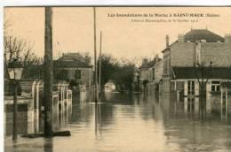 CPA 94  SAINT MAUR INONDATIONS DE LA MARNE AVENUE BEAUREPAIRE - Saint Maur Des Fosses