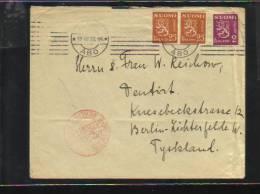 Lettre Par La Poste Aérienne Allemande - Finlandia