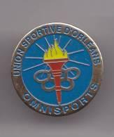 Pin' Union Sportive D' Orléans Omnisports Flamme Jeux Olympiques Dpt 45   Réf 7454JL - Pin's