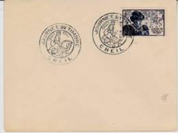 LETTRE JOURNEE DU TIMBRE 1945   - CAD CREIL --
