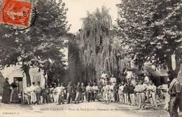 SAINT CANNAT. Place  Du Petit Jardin. (soldats En Manoeuvres, Femmes, Enfant, Animation). - Otros Municipios