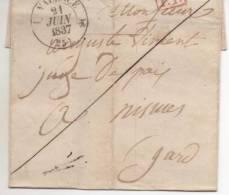 LETTRE PP VALENCE 1834 - Marcophilie (Lettres)