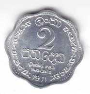 @Y@   Sri Lanka / Ceylon  2 Cents 1971 UNC   (C112) - Sri Lanka