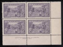 Canada MNH Scott #283 Plate #2 Lower Right Plate Block 4c Founding Of Halifax Bicentenary - Numeri Di Tavola E Bordi Di Foglio