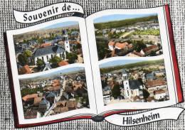 67    HILSENHEIM             L' église ,  Vue Générale  , L'église Et L' école - Andere Gemeenten