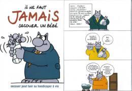 Publicité GELUCK Philippe Ne Pas Secouer Un Bébé Le Chat 2012 - Advertisement