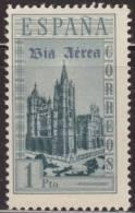 España 1938 Edifil 847D Sello * Monumentos Catedral De Leon Sobreimpresion Via Aerea Inauguracion Lineas Postales Aereas - 1931-Today: 2nd Rep - ... Juan Carlos I