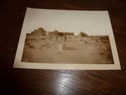 Rare Carte-photo De Collection Combier Afrique Saharienne.....village à Identifier  18cm X 13 Cm - Africa