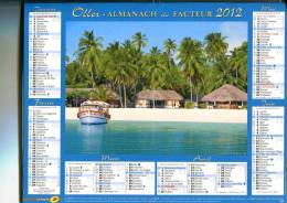 2012 - OLLER  -  ALMANACH Du FACTEUR  -   Intérieur  Complet  SEINE MARITIME - Vues : Polynésie  Bora  - Inde Bangaram - Groot Formaat: 2001-...