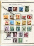 - Espagne - 150 Timbres, Années 1958/64, Sur 6 Feuilles D´album, Avec Charnières, Nombreuse Séries, Splendide, Scans. - Sammlungen (im Alben)