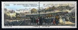 Italien Zdr.   Mi. 2095 / 2096 150 J. Eisenbahn In Italien **/MNH - Treni
