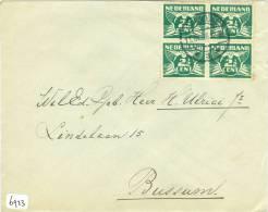 BRIEFOMSLAG Uit 1926  Uit ZANDVOORT Naar BUSSUM (6923) - 1891-1948 (Wilhelmine)
