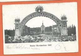 R270, Basler Bundesfeier 1901, Précurseur, Circulée 1901 - BS Bâle-Ville
