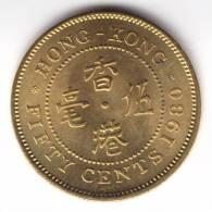 @Y@   Hong Kong 50 Ct  1980  UNC   (C90) - Hong Kong