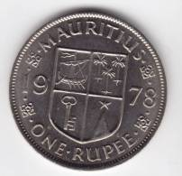 @Y@   Mauritius 1 Rupee  1978  UNC   (C30) - Maurice