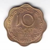@Y@    Sri Lanka / Ceylon  10 Cents 1971  (C48) - Sri Lanka