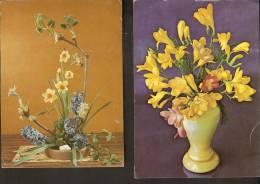 5k. FLORA - Flower - Bouquet Composition Flowers - Set Of 2 - Non Classés