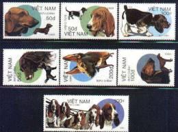 Vietnam MNH Sc 2016-22 Mi 2073-79 Dogs 1989 - Vietnam