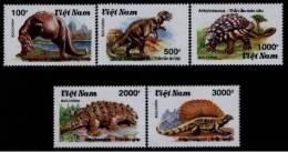 Vietnam MNH Sc 2113-17 Mi 2191-95 Prehistoric Animals 1990 - Vietnam