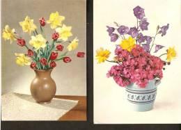 5k. FLORA - Flowers - Flower - Set Of 2 - Bouquet - Non Classés