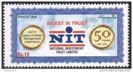 PAKISTAN MNH 2012 NIT 50 YEARS OF NATIONAL INVESTMENT TRUST LIMITED NIT FIFTY 1962 - 2012 - Pakistan