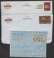 PAKISTAN Postal History Lot Of Aerogrammes 3 Different Old Postal Used.