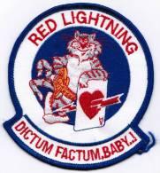 PATCH ECUSSON RED LIGHTNING DICTUM FACTUM BABY MARINE AMERICAINE - Aviazione
