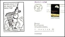 USA: 'Start Apollo-12, 1969' / 'Launching Of Apollo 12 - Saturn-5 Cachet', Cape Canaveral - Briefe U. Dokumente