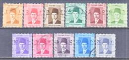 Egypt  206-16  (o)  1936 7-44  Issue - Egypt