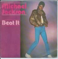 """45 Tours SP -  MICHAEL JACKSON  - EPIC 3184   """" BEAT IT """" + 1 ( Label Plastique Bleu ) - Vinyl-Schallplatten"""
