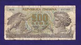 ITALY 1966, Banknote USED VG, 500 Lire  Km64 - [ 2] 1946-… : Républic