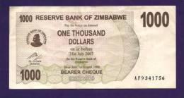 ZIMBABWE 2006, Banknote,  USED VF. 1.000  Zim Dollar - Zimbabwe