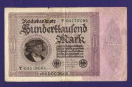 GERMANY 1922, Banknote,  USED VF. 100.000 Mark Km83 - [ 3] 1918-1933 : Weimar Republic