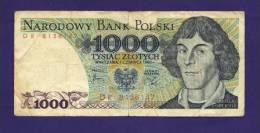 POLAND 1982, Banknote,  USED VF. 1.000 Zlotych Km146 - Poland