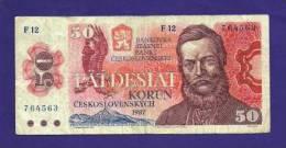 CZECHOSLOVAKIA 1987, Banknote,  USED FINE. 20 Korun - Tsjechoslowakije