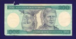 BRASIL 1981, Banknote,  USED FINE. 200 Cruzeiros Km 199 (torn) - Brazil