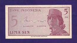 INDONESIA 1964, Banknote,  UNC, 5  Sen - Indonésie
