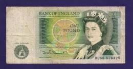 GREAT BRITAIN 1979, Banknote,   USED VG , 1 Pound Km 137 - 1952-… : Elizabeth II