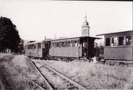 PHOTO 9X14 . TRAMWAYS DE LA VALLEE DE CELLES. EN GARE DE RAON.  VOIR LES 2 SCANS - Treni
