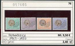 Frankreich - France - Francia - Frankrijk -  Michel 1947-1950 / Preo Yv. 138/140/142/144 - ** Mnh Neuf Postfris - Nuovi