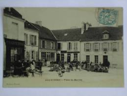 JOUY LE CHATEL ( 77 ) PLACE DU MARCHE CPA - Other Municipalities