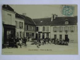 JOUY LE CHATEL ( 77 ) PLACE DU MARCHE CPA - Frankreich