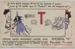 Buvard -  **  PHOSPHAL  * G *     Engrais -  REBUS   Par Illustrateur   R. GUERIN - Agriculture
