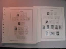 """41 Feuille """"LEUCHTTURM"""" Pour Collection De France De 1850 à 1944 Très Bonne Etat. - Fogli Prestampati"""