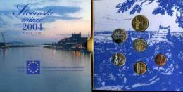 Slovaquie Slovakia 50 Helaru à 10 Korun 2004 Coffret Officiel BU Jeton Adhésion à L´Union Européenne KM MS12 - Slovaquie